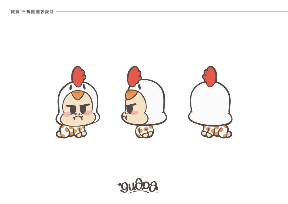 吉祥物設計 | Guapa Q版一家人三視圖 4