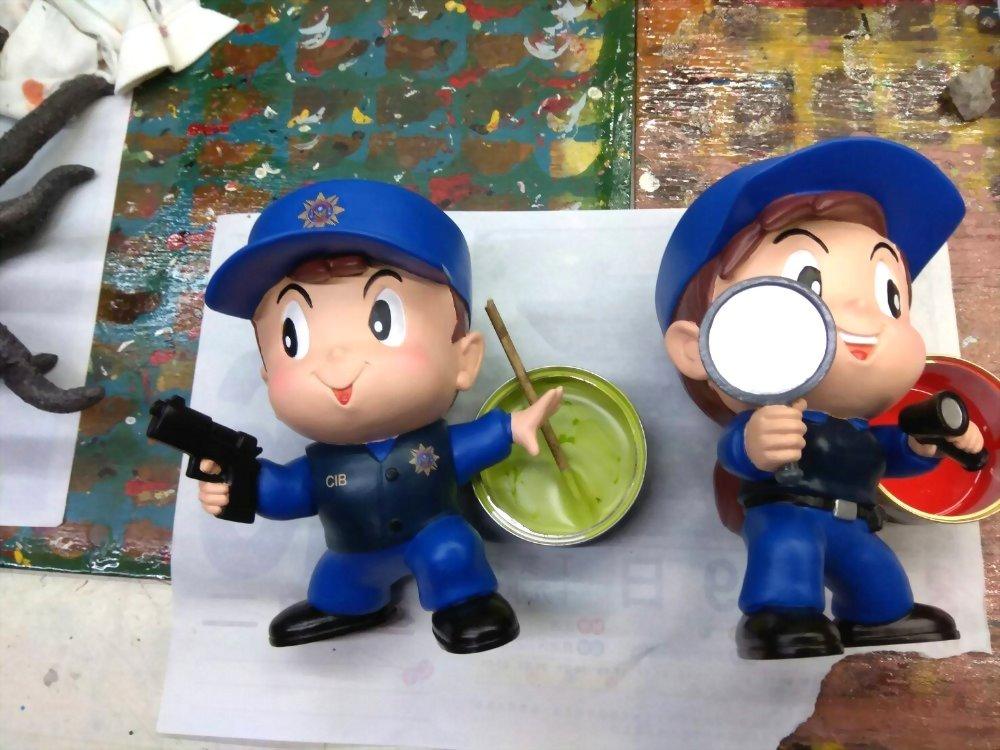Q Version Puppe - Kriminalpolizei 3