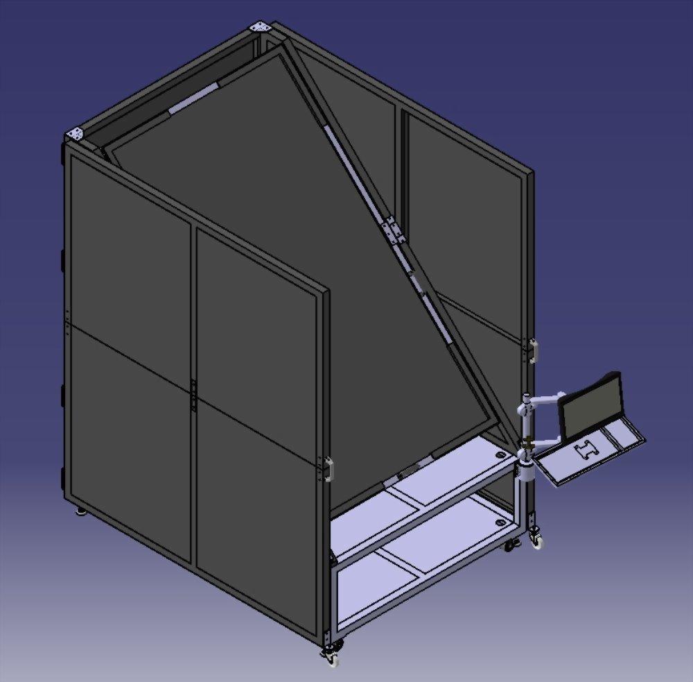 3D 建模 | 巧匠工藝-投影機架結構設計 2