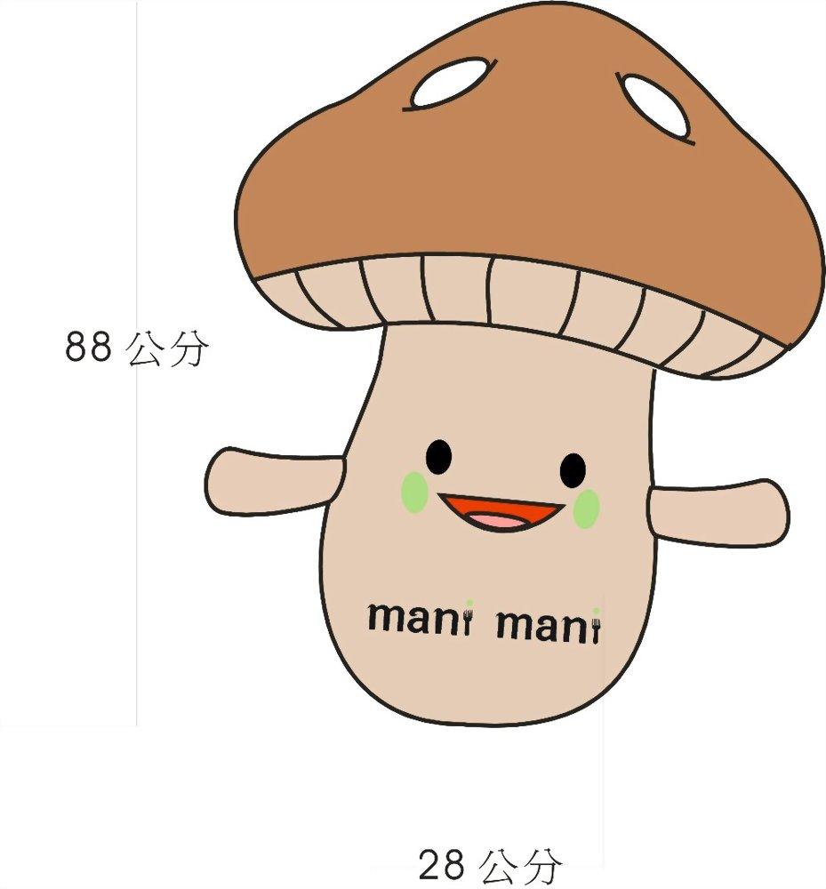 吉祥物设计 | 巧匠工艺-mani mani义式蔬食餐厅-mani小将