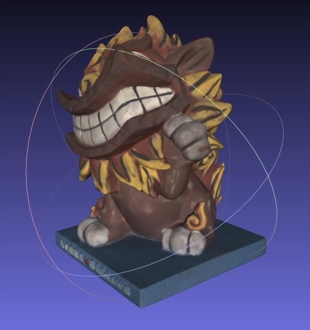 吉祥物公仔(3D掃描)-風獅爺 3
