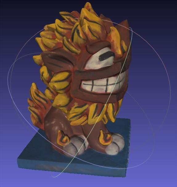 吉祥物公仔(3D掃描)-風獅爺 2