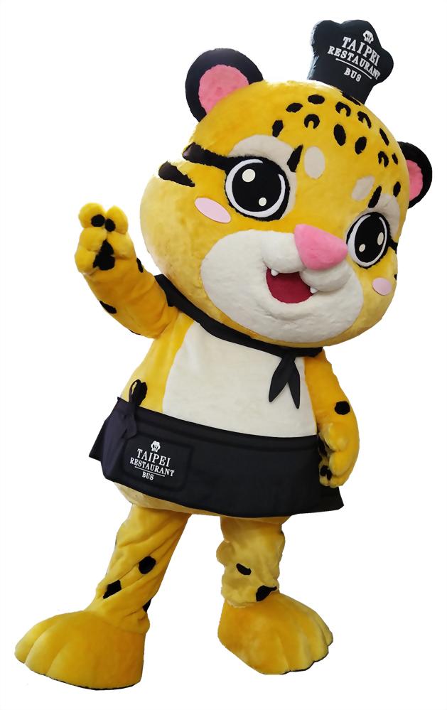 布偶裝(人偶裝)-台北市雙層巴士 抱豹 1