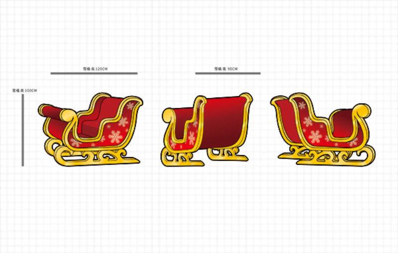 吉祥物設計-雪橇與Q版麋鹿 3