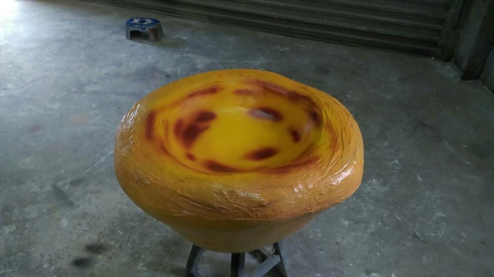 裝置藝術 | 巧匠工藝FRP葡式蛋塔模型 1