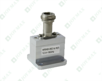 12.4~18.0GHz Waveguide to N(f) Coaxial Adapter, End Launch, Square Cover type