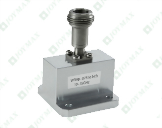 10~15GHz Waveguide to N(f) Coaxial Adapter, End Launch, Square Cover type