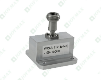 7.05~10GHz Waveguide to N(f) Coaxial Adapter, End Launch, Square Cover type