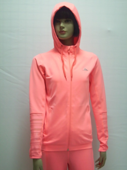 Female jacket with hoodie
