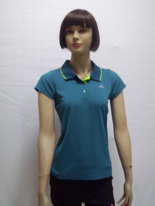 女性高彈性吸濕排汗POLO衫