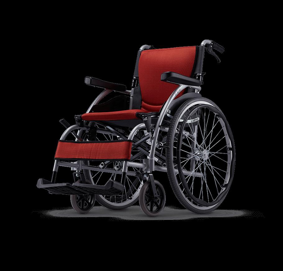 一般輪椅 鋁合金曲線型