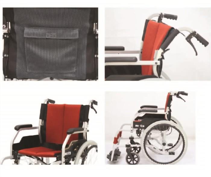 一般輪椅 鋁合金背折型