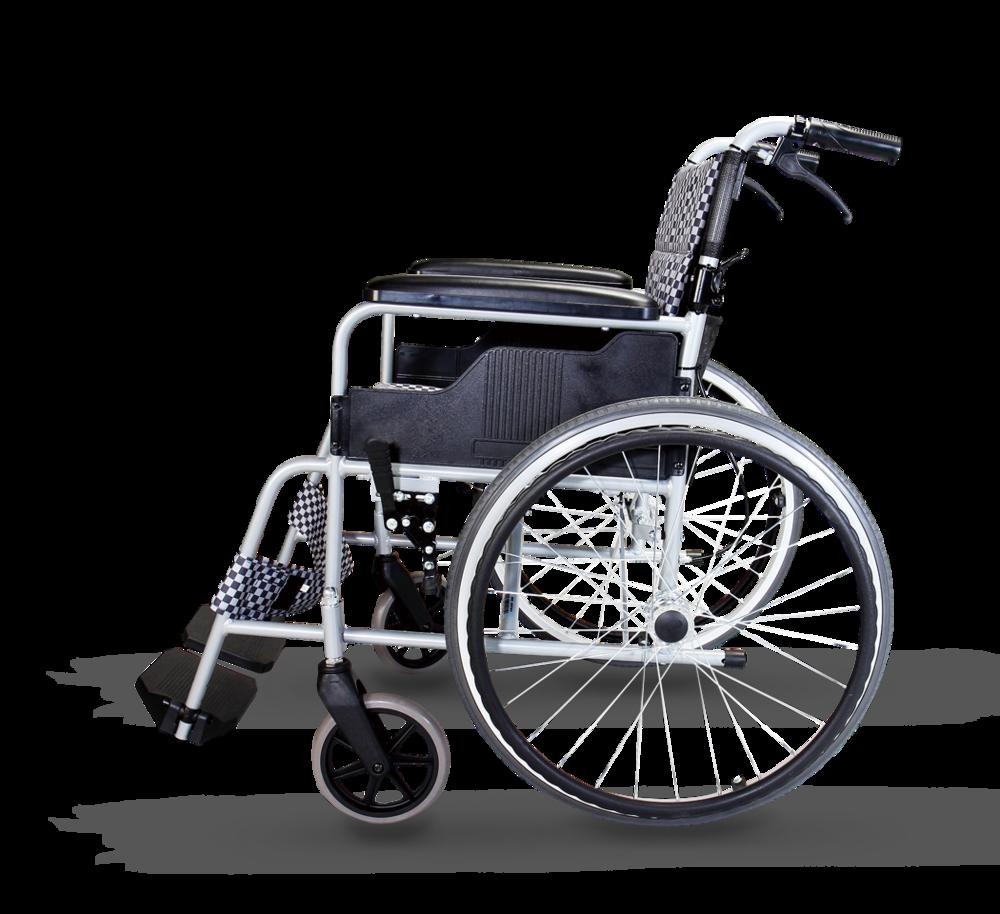 一般輪椅 鋁合金經濟背折型
