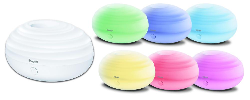 六種LED情境燈隨序變化,可當小夜燈