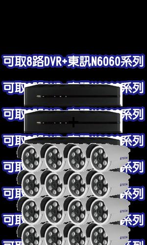 可取8路DVR+東訊N6060系列攝影機套裝 (MM數請填在備註)