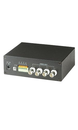 四路主動式絞線影像傳輸器-接收端