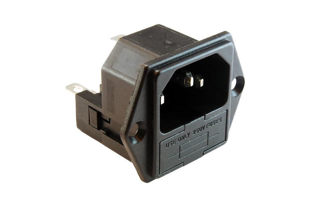 AC Sockel+fuse Halter (SWRF-2004D)