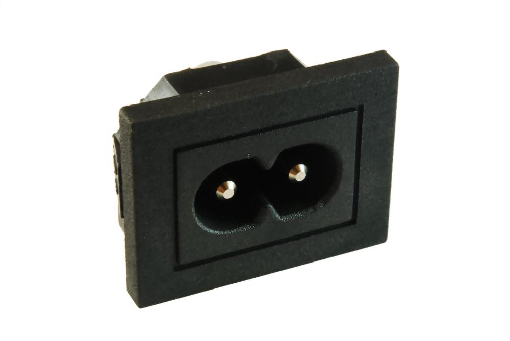 IEC 60320 C8 SOCKET-INLETS-C8 (SWJR-201SB-PCA)