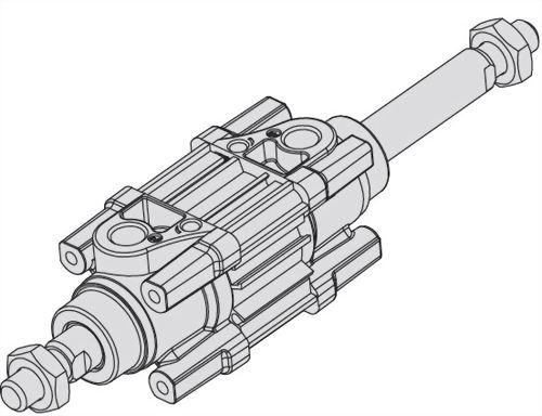 ACP2C双轴方管标准汽缸