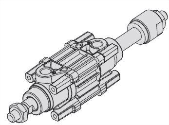 ACP2D双轴可调方管标准汽缸