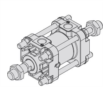 二軸タイロッド標準シリンダー(ASCCシリーズ)