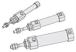 Putaran silinder pneumatik tunggal ISJB