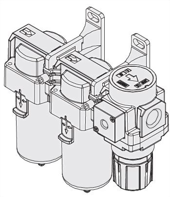 3-piece Combo Filter, Micro-Mist Lubricator and Regulator JACC