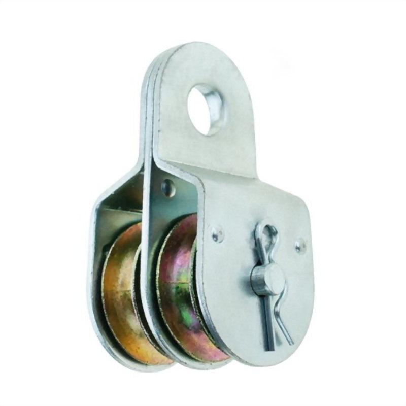 滑輪類產品(鐵板固定雙滑輪)