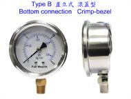 外殼不銹鋼壓力錶