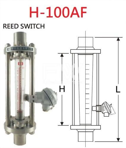 透明管面積式流量計-螺牙/夾接接續 流體底進上出