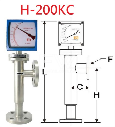 Metal Tube and Dial Indicator Type Flow Meter with Flange Connection