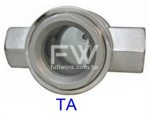 Flow Sight Glass with Thread Connection