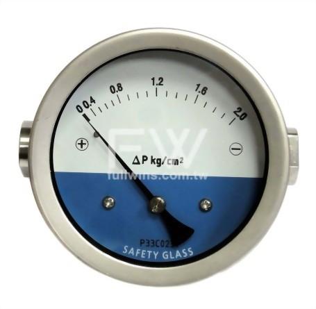 不銹鋼差壓錶 活塞式結構 水平接口