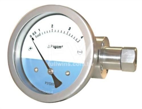 不銹鋼差壓錶 膜片式結構 水平接口
