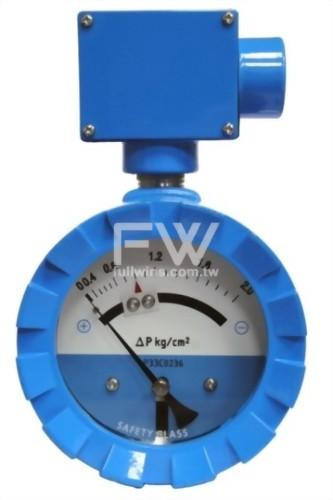 不銹鋼差壓錶 活塞式結構 水平接口 附接點開關/訊號輸出