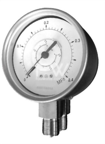 不銹鋼差壓錶—雙針式