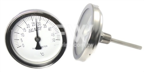Bimetal Thermometer with Axial Stem