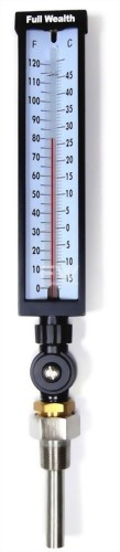 Glass Tube Thermometer with Adjustable Angle Stem