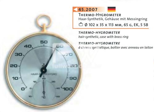 指針式溫溼度計