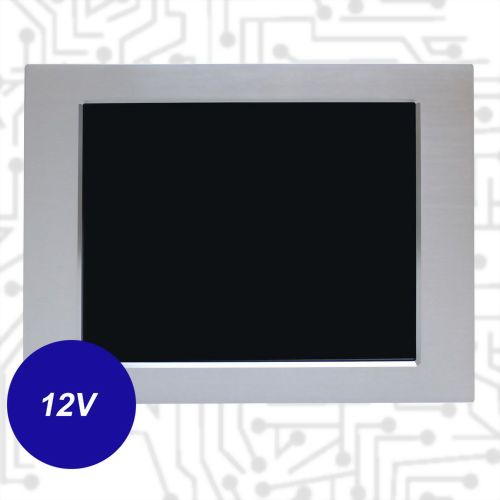 "17""J1900 Touch Panel PC - Front IP65 5 Wire Resistive (12V)"