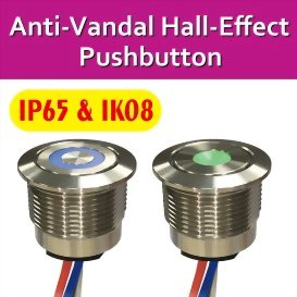 New Release of Anti-Vandal Hall-Effect Pushbutton