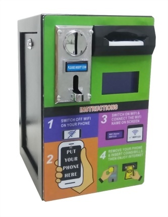 Public WiFi Hotspot pay terminal 2 in 1 Coin+Banknote WiFi