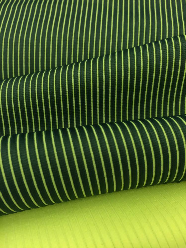 Poly/Spx double dye vertical stripe Interlock