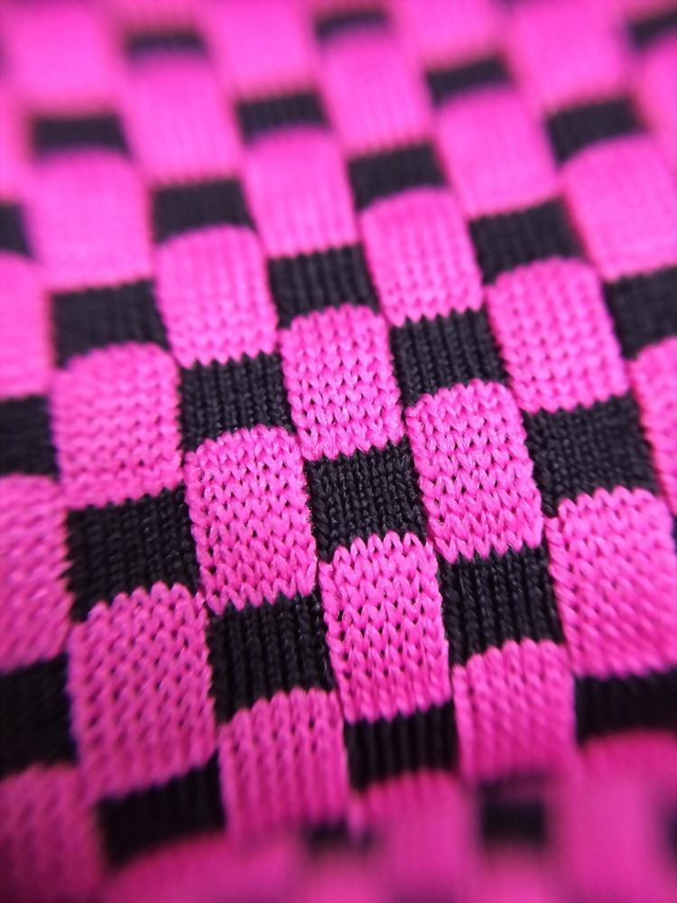 Poly/Spx check UV-cut yarn Interlock