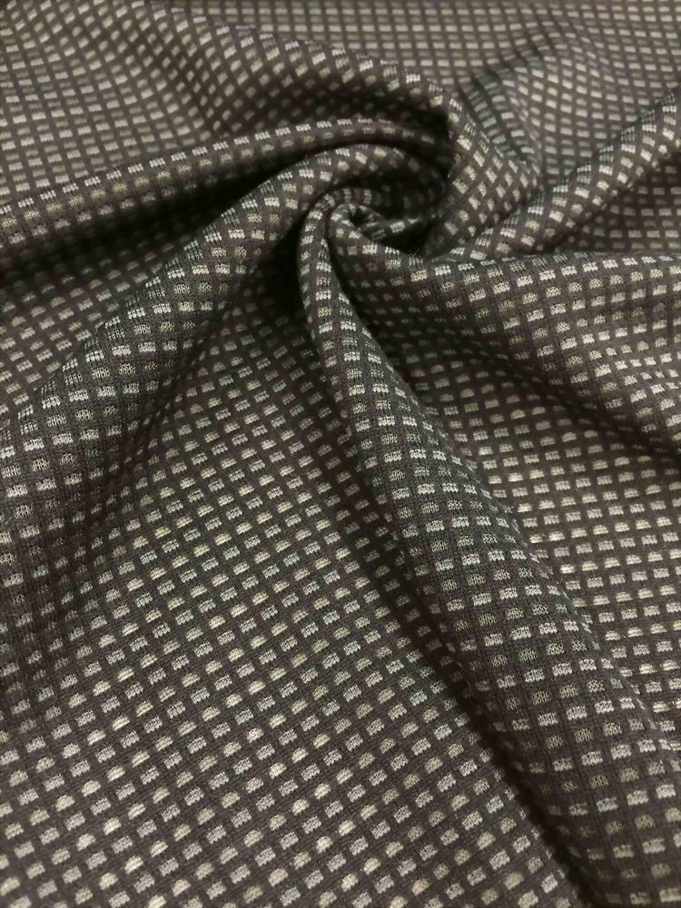 緯編格子雙面布