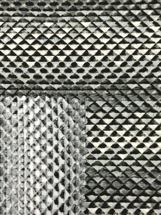 T/Spx Printed mesh Jacquard