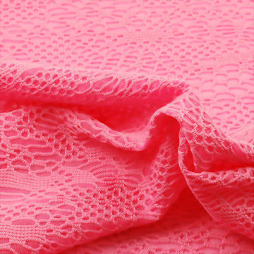 Jacquard Mesh Polyester/Spandex Fabric for Swim or Fashion Wear Use