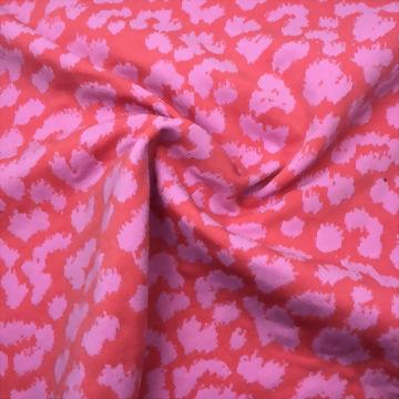 圓編針織豹紋緹花雙面布