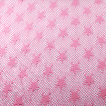 100% polyester knitted  star shape crochet fabric