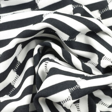 Polyester/Nylon Knitted Jacquard Fabric